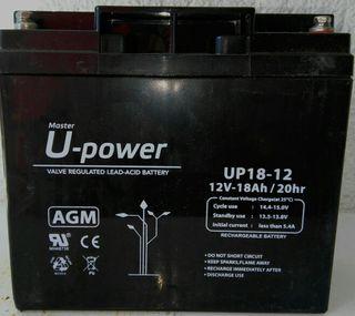 Bateria AGM U-Power 12V-18Ah.