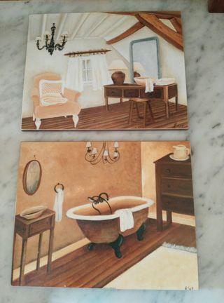 Dos cuadros baño