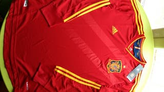 Camiseta de España manga larga (retro). Talla M