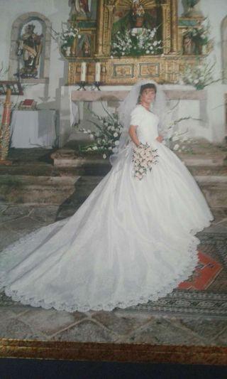 vestido de novia talla 42 de segunda mano en la provincia de