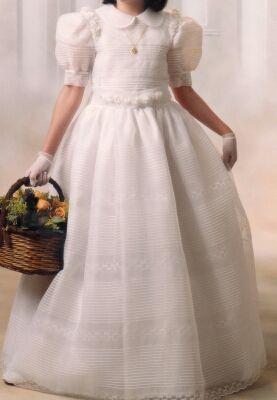 Vestido de comunión bordado