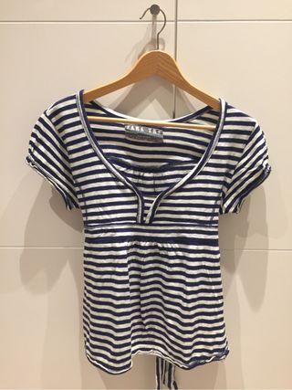 Camiseta rayas marinera, lazo