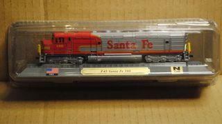 Preciosa locomotora F45 Santa Fe 100 EEUU