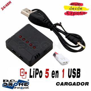 1x5 en 1 Cargador Tipo A USB LiPo Tipo A