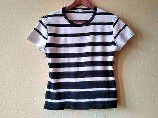 Jersey de rayas negro y blanco USD