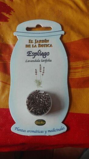 sobre de semillas de espliego