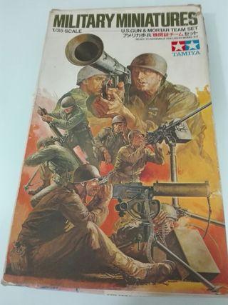 MAQUETA TAMIYA 1/35 EQUIPO MORTERO ARMAS US II GM