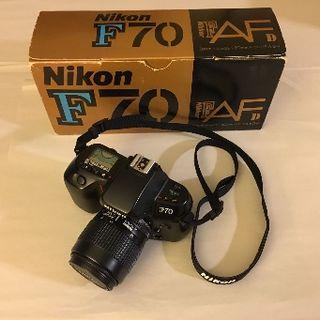Cámara analógica Nikon F70 réflex