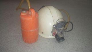 casco espeleo con carburo y electrico