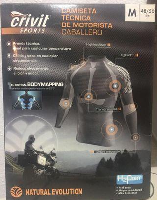 Camiseta técnica para moto