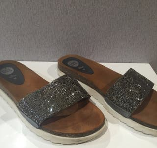 Sandalias color plata 39