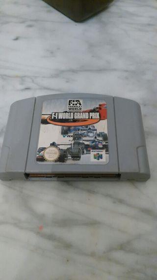 Juego F1 World Gran Prix de Nintendo 64