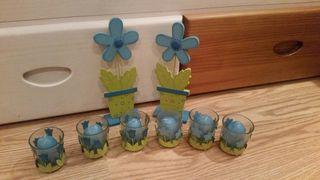 decoracion en azul turquesa