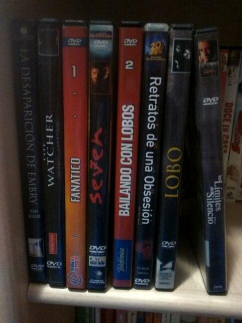 Lote DVD SUSPENSE, ACCIÓN, TERROR 1x2€. Los 8x10€