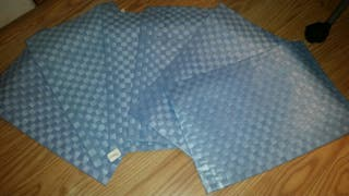 manteles individuales azules