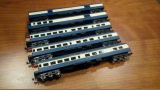 5 vagones de pasajeros escala N
