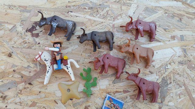 Playmobil vaquero con ganado