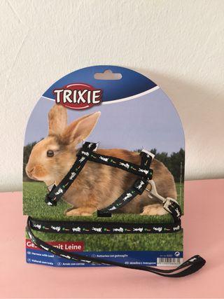 Arnes y correa para conejo