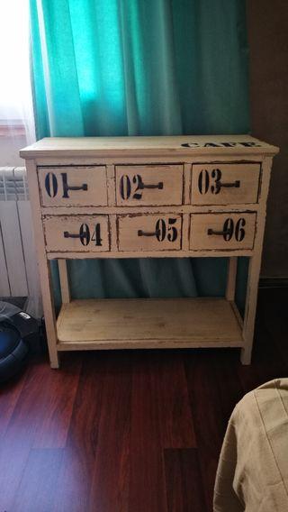 Mueble bufet de comedor rústico