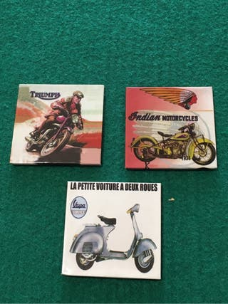 Imanes nevera: TRIUMPH + INDIAN MOTORCYCLES +VESPA