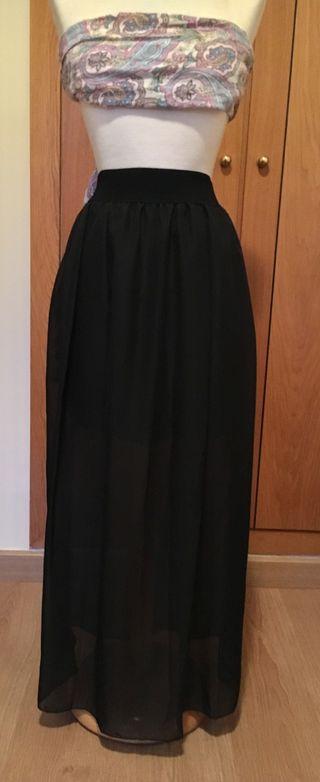 Falda negra gasa.A estrenar