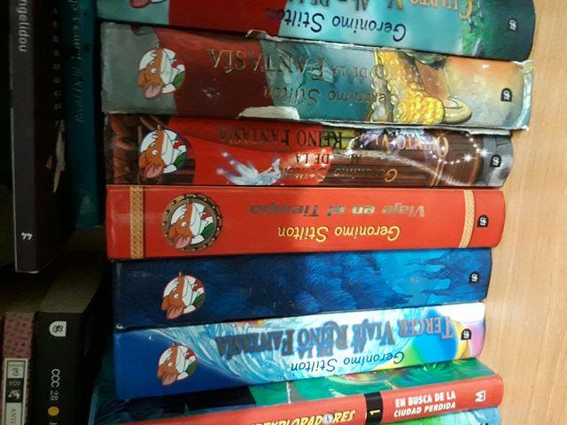 6 libros de geronimo stilton practicamente nuevos.