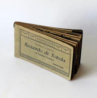 Antiguo Bloc con 25 tarjetas postales de Toledo.