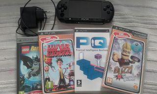 PSP + 5 juegos