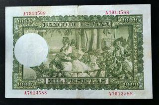 Billete . 1000 pesetas 1951 . Sorolla