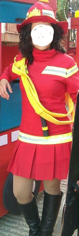 disfraz bombero y bombera comparsa