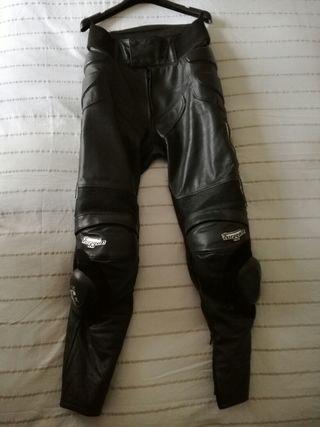 Pantalón cuero moto furygan