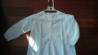 camisa antigua para niña con punt al borde bonita