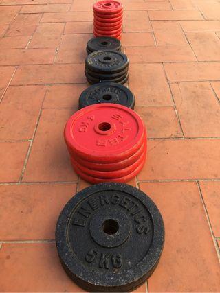 Pesas deporte varios kilos