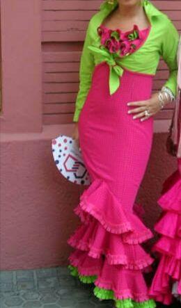vestido traje flamenca feria