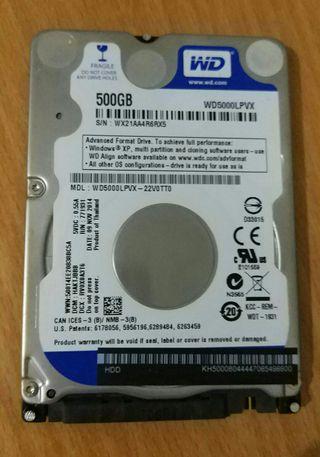 Disco duro portátil 500gb Western Digital