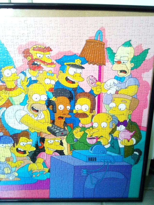 Puzzle Los Simpsons con marco de segunda mano por 20 € en Pilas ...