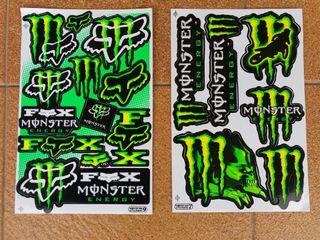 Pegatinas Monster Verdes 2
