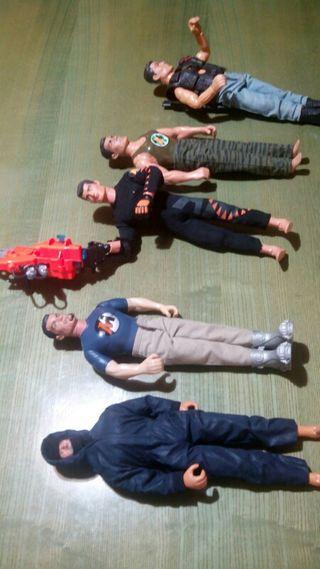 Lote 5 muñecos articulados colección...