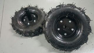 pareja de ruedas agricolas para motoazada