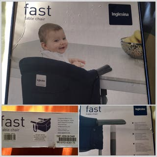 Trona mesa portatil bebe, marca Inglesina. Oferta! Impecable!!!