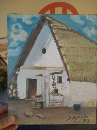 Cuadro oleo J. Aguado. Pintura