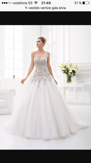 vestido de novia talla 42 de segunda mano en getafe en wallapop
