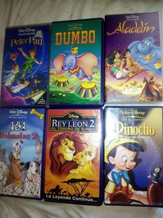 Peliculas Walt Disney en VHS en muy buen estado