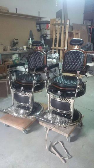 Pareja de Sillones de barbero Antiguos