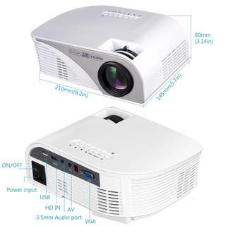 Proyector Led - 1200 lumen HD-Multimedia HDMI