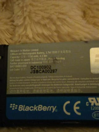 Blackberry battery