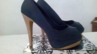 Zapatos de tacón azules de segunda mano en Córdoba en WALLAPOP 3fa7ea264ff8