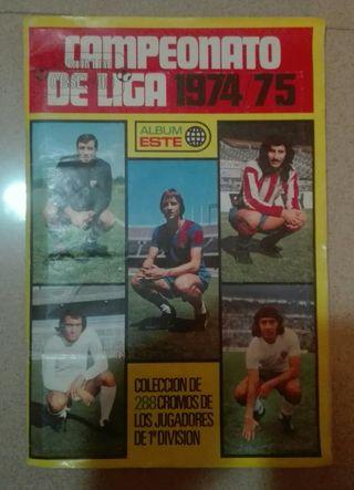 Álbum cromos Liga 1974/75