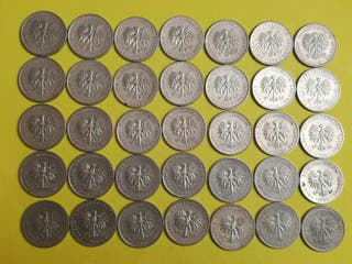 35 monedas de 20 zlotich de Polonia