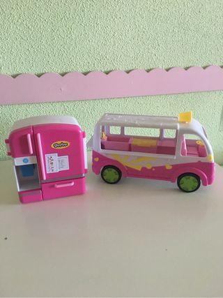 Caravana y nevera de los shopk